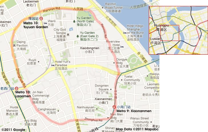 Shanghai Old City Map