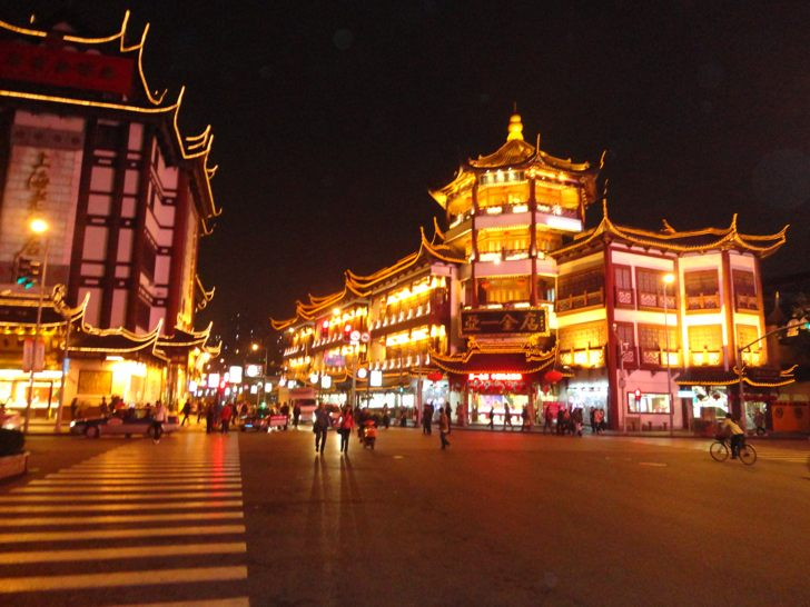 Shanghai Old City in the Night