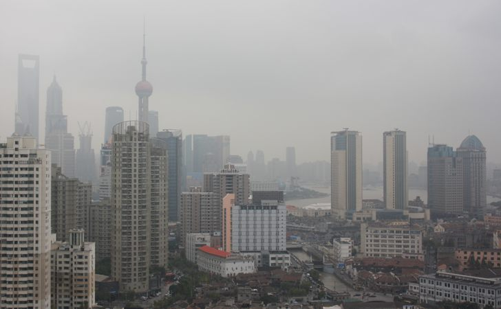 View from Hotel Room in Shanghai